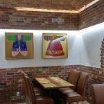 "The interior of the restaurant ""Bibimbap Korea Praha"""