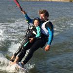 Tandem para niños. Les encanta el kitesurf !!!