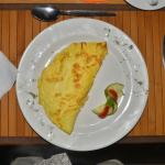 The legendary omelette of the Schutzenhaus, fluffy, light and delicious.