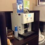 免費提供給房客的抹茶與咖啡,味道相當不錯