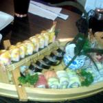 A selection of specialty rolls from Sushi 99