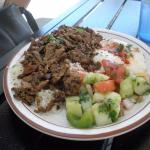 very dry #10 Beef/Lamb Shawerma plate