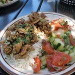 very dry chicken Shawerma plate