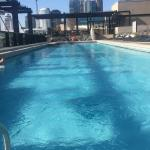 View of the rooftop pool