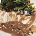 A salad that had more dressing than greens.