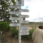 Direction to travel to sample local wines