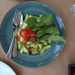 Courgette salad with lemon and mustard sauce