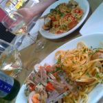 linguine e risotto ai frutti di mare.... buonissimi