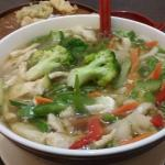 Chicken, Egg, Vegetable Noodle Soup