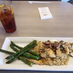 Grilled Chicken, Asparagus on Rice