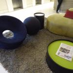 Eclectic seating in reception