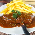 Entrecote Steak  mit Pfeffersauce 1. Besuch