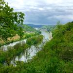 River from the cliffs behind the property-