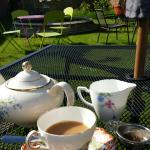 Afternoon cup of tea in the garden at Orangemabel