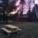 Sunsets and bird nests. Motel backyard beauties