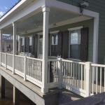 There are three cabin designs: fully screened front porch, open front w/ screened side or back p