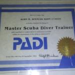 THE MASTER SCUBA DIVER TRAINER COURSE IS ALSO AVAILABLE ONLY 5 SPECIALTIES YOU CAN CHOOSE