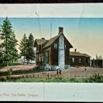 Early Picture of Fort Dalles Museum