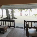 Looking out of our beachfront Veranda suite
