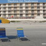 View of Best Western Daytona Inn Seabreeze from the beach/ocean.