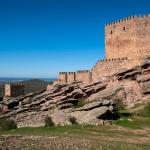 Vista del castillo de Zafra
