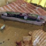 Avocado bacon panini.