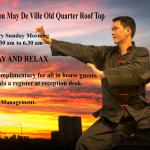 Stay and relax - Free tai chi class on Rooftop