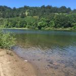 Umpqua river which wraps around property