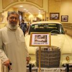 Mercedes Benz 1965 – one of the few old automobiles displayed in the hotel corridor.