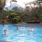 Great view to the volcano from the pool