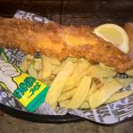 Battered Haddock Supper to sit in with a slice of Lemon & Tartare Sauce!