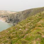 Coastal walk from Holywell Bay