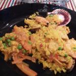 combinacion paella vegetariana + valenciana!!