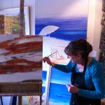 Jenny Taylor, the Artist-in-Residence at the Resort