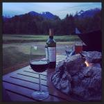Fire, drinks and a gorgeous view over the golf course