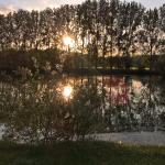 Coucher de soleil sur l'étang !