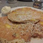 Tropical Hawaiian Pancakes with Coconut Syrup