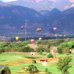 View from suite Hot Air Balloons over the golf course.