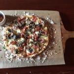 Don Juan pizza- portobello mushrooms w/ sliced spicy soppresata salami