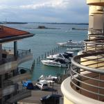 Ausblick vom Balkon Richtung Lagune