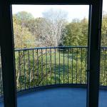 Balkon und Park