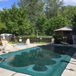The pool opens in summer, hot tub is open all year