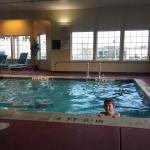My kids enjoyed the pool... which stayed warm even when it was snowing outside!