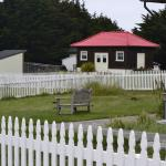 West Cottage behind the Assistant Lightkeeper's house; Head Lightkeeper's house to the right