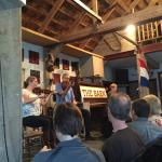 Listening to the Celtic Music at The Barn at Normaway Inn and Cabins. Great music, a must do.
