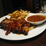 BABY BACK RIBS WITH FRIES AND BEANS