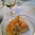 Vol-au-Vent (Seafood Newburg in Puff Pastry) paired with Star Lane Sauvignon Blanc, CA