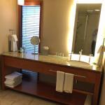 Single sink bathroom in suite 644