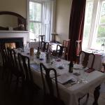 Small but elegent dining room - nice to have the wood fire ~ even at breakfast
