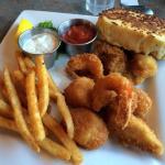 Shrimp, scollops, hallibut, oysters...great platter